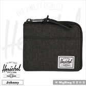 Herschel 皮夾  經典拉鍊零錢包 黑色十字線 Johnny-2090 得意時袋