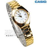 CASIO卡西歐 LTP-1170N-7A 都會城市 不銹鋼 防水手錶 小圓錶 女錶 金x白 LTP-1170N-7ARDF