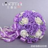 創意韓式新娘伴娘手捧花仿真花球婚紗攝影道具花結婚婚慶用品 居家物語