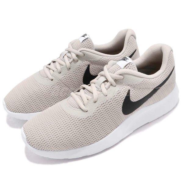 Nike 休閒鞋 Tanjun 米白 白 黑勾 百搭 運動鞋 男鞋 基本款【PUMP306】 812654-012