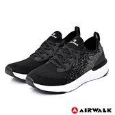 【AIRWALK】電光石火編織運動鞋-黑-男款