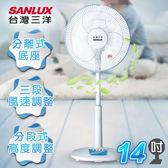 【SANLUX台灣三洋】14吋機械式電風扇(立扇)   EF-14SA