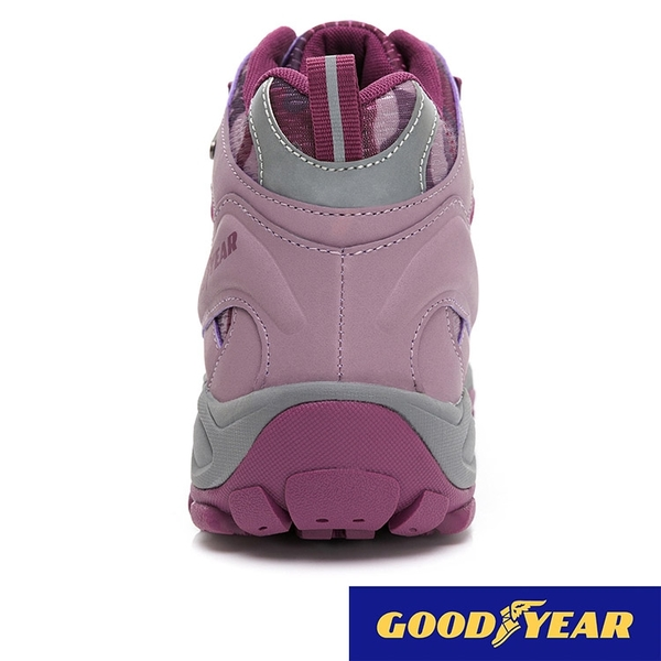 女款 GOODYEAR 固特異 12507 防潑水郊山健行鞋防滑底 夜間反光 高筒登山鞋 踏青鞋 戰術靴 59鞋廊