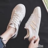 百搭小白鞋女鞋年春季春款休閒學生平底貝殼板鞋爆款