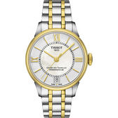 TISSOT 天梭 杜魯爾系列機械動力80手錶-珍珠貝x雙色版/32mm T0992072211800