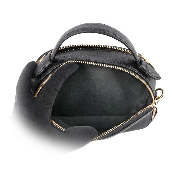 【COACH】防刮皮革半月型手提/斜背二用饅頭包(黑色) 1589 IMBLK