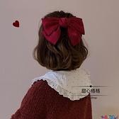髮夾 Ying.周楊青同款韓國綢緞大蝴蝶結髮夾髮卡后腦勺髮飾彈簧夾頭飾