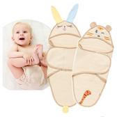 天然質感新生兒雙層透氣睡袋包巾 嬰兒睡袍 連帽睡袋