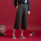 【衣大樂事】MIT仿毛抽針雙袋寬褲