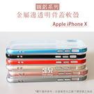 【妃凡】金屬框搭透明殼!Apple iPhone X 圓鋁系列 金屬邊 透明背蓋 軟殼 手機殼 保護殼 邊框 005