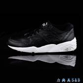 PUMA 男女慢跑鞋  R698 Core Leather  黑色鞋面+白色中底 避震性佳  【3513】
