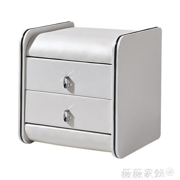 床頭櫃 床頭櫃簡約現代經濟型簡易櫃整裝臥室收納櫃 MKS 薇薇