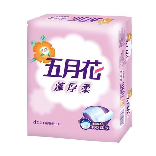 五月花 蓬厚柔 衛生紙 頂級 抽取 100抽*8包*6袋 - 永豐商店