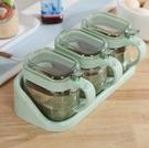 調味料盒 玻璃調料盒鹽糖罐子調味罐廚房用品味精瓶罐油壺調味瓶罐家用【快速出貨八折搶購】