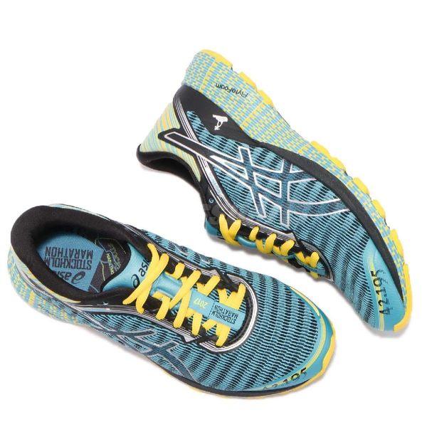 【六折特賣】Asics 慢跑鞋 DynaFlyte 藍 銀 Stockholm Marathon 輕量避震 女鞋 運動鞋【PUMP306】 T75UQ-3990
