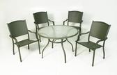 【南洋風休閒傢俱】戶外桌椅系列 - 峇里島桌椅組 戶外桌椅組 106CM圓桌 鋁合金鋁板椅(A44L34 A14S19)