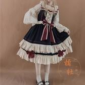 Lolita洋裝初戀白雪姬日常jsk重工洛麗塔吊帶連身裙【橘社小鎮】