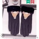 手套冬天女可愛學生騎行車羊毛加絨加厚韓版保暖觸屏羊絨手套