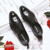 休閒皮鞋商務皮鞋春季商務休閑皮鞋男韓版潮流內增高英倫男鞋布洛克皮鞋子男士婚鞋