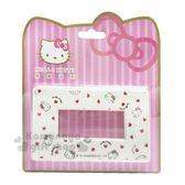 〔小禮堂〕Hello Kitty 標準橫式三孔插座開關裝飾板《白.愛心》開關蓋板.電源蓋板 8021043-00004