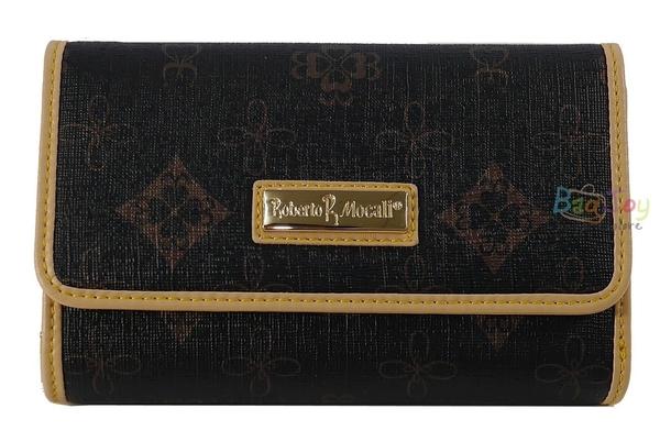 Roberto Mocali 諾貝兔 黑金茉綠花紋 中夾(RM-63201)