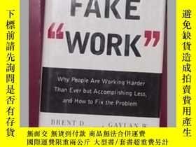 二手書博民逛書店大本英文原版罕見Fake Work by Brent D Pet