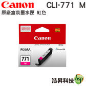 CANON CLI-771 M 紅 原廠盒裝墨水匣 適用MG5770 MG6870 MG7770