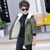 男童加絨外套秋冬兒童棉衣冬季保暖休閒加厚中長款風衣 巴黎時尚