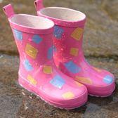 兒童雨鞋防滑鞋底天然環保橡膠無異味【步行者戶外生活館】
