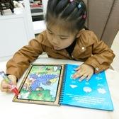 水書本 繪畫益智早教兒童反復涂水畫本水寫神奇水畫布繪畫布水魔力涂畫本   koko時裝店