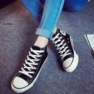 PAPORA黑白經典款休閒帆布鞋KS01黑/白(偏小)