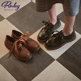 鞋子 英倫復古學院綁帶低跟牛津鞋-Ruby s 露比午茶