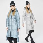 羽絨夾克-連帽冬季禦寒保暖網眼長款女外套2色73pv32[巴黎精品]