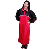 【東門城】JUMP 競速型尼龍全開式雨衣 黑紅
