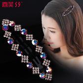 韓式橢圓劉海水鑽閃亮頭飾品可愛一字髮夾LY1647『愛尚生活館』
