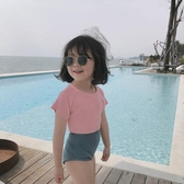 柒號童倉夏季新品兒童仙女色分體度假泳衣女童泳裝兩件套