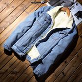 冬季冬裝男生牛仔男款保暖外套 仿羊羔毛冬天加絨休閒冬天加厚上衣 百搭型男男士夾克時尚外衣