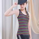 *╮寶琦華Bourdance╭*專業瑜珈韻律芭蕾★條紋背心上衣( 內有裡襯附罩杯)【D19105】