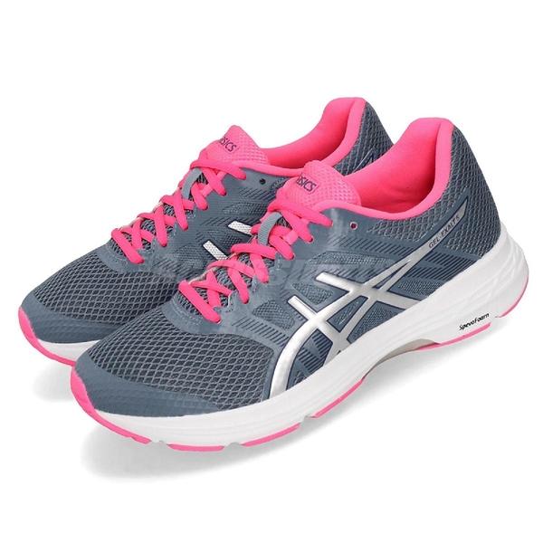 Asics 慢跑鞋 Gel-Exalt 5 藍 白 粉紅 低筒 女鞋 運動鞋 【ACS】 1012A148401