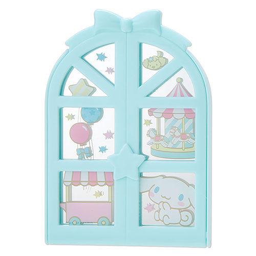【震撼精品百貨】大耳狗_Cinnamoroll~大耳狗喜拿浪漫窗型隨身折疊鏡