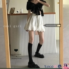 熱賣百摺裙 白色顯瘦蓬蓬A字裙女裝減齡短裙夏季韓版百搭高腰半身裙學生裙子【618 狂歡】