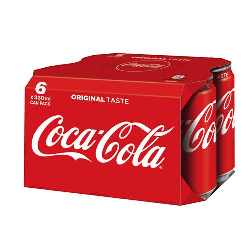 可口可樂易開罐330ml*6入【愛買】