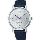agnes b. marcello系列手寫時標經典腕錶 VJ32-KZD0Z BG8012X1