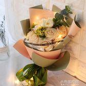 創意浪漫生日禮物女生送女友女孩閨蜜diy韓國香皂花束禮盒特別的『艾莎嚴選』