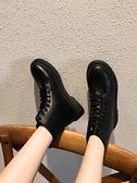 短靴 馬丁靴女英倫風薄款短筒黑色厚底短靴夏季百搭潮ins酷靴子夏天 芊墨左岸