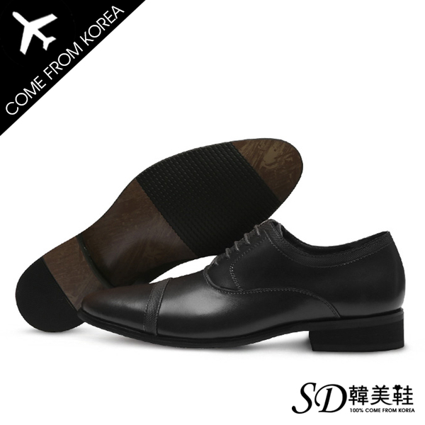 皮鞋 韓國直送 韓劇穿搭必備 綁帶 立體線條  厚底好穿 增高3.5cm休閒鞋【F730348】 2色