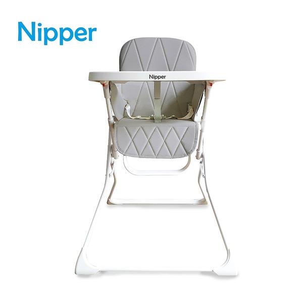 【Nipper】Fold and Go 秒收高腳餐椅-尊爵灰