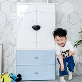收納櫃四抽屜衣櫃抽屜式卡通大號加厚塑膠兒童儲物櫃子小孩衣櫥收納櫃