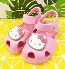 【震撼精品百貨】Hello Kitty 凱蒂貓~台灣製Hello kitty正版兒童矽膠涼鞋-粉(13~18號)#19286