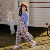 女童吊帶褲 女童吊帶褲套裝春裝2019新款韓版中大童洋氣時髦兒童童裝春秋